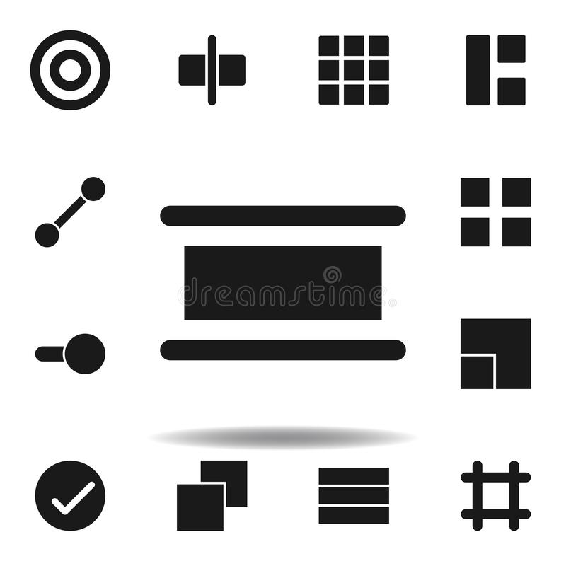 User distribute align icon. set of web illustration icons. signs, symbols can be used for web, logo, mobile app, UI, UX. On white background royalty free illustration