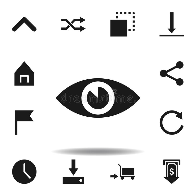 User eye vision icon. set of web illustration icons. signs, symbols can be used for web, logo, mobile app, UI, UX. On white background vector illustration