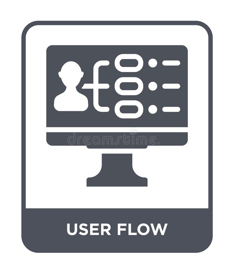 user flow icon in trendy design style. user flow icon isolated on white background. user flow vector icon simple and modern flat stock illustration