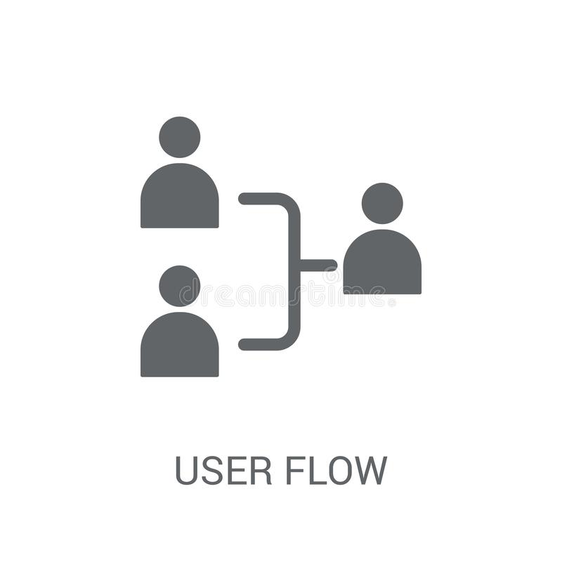 User flow icon. Trendy User flow logo concept on white background from Technology collection stock illustration