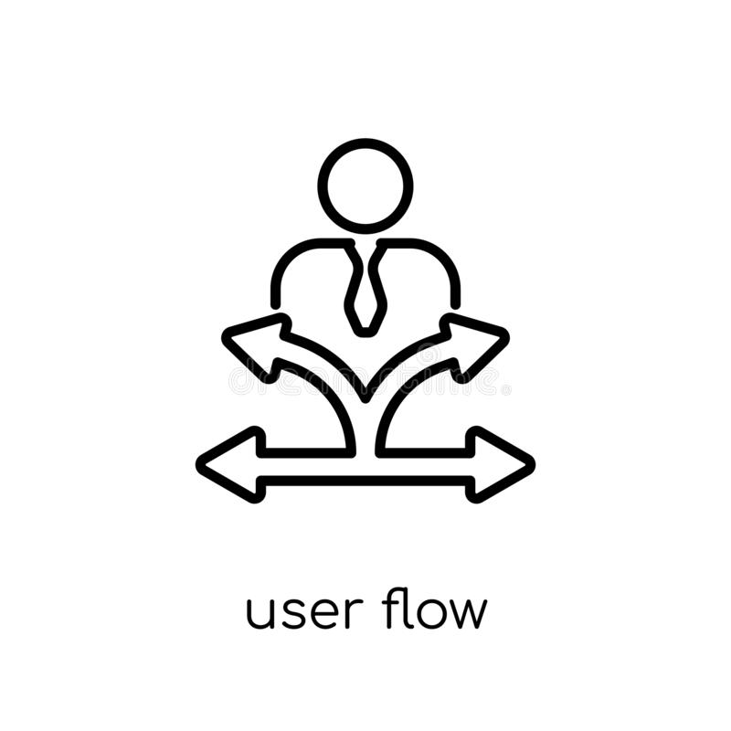 User flow icon. Trendy modern flat linear vector User flow icon royalty free illustration