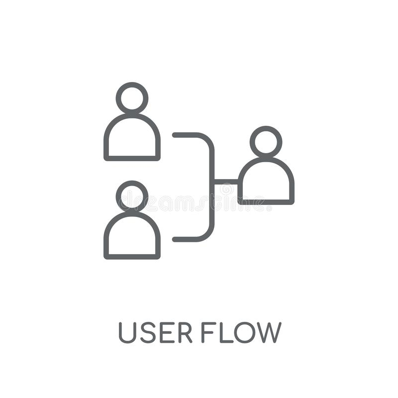 User flow linear icon. Modern outline User flow logo concept on. White background from Technology collection. Suitable for use on web apps, mobile apps and vector illustration