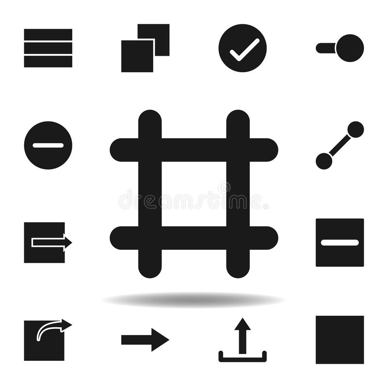 User frame artboard icon. set of web illustration icons. signs, symbols can be used for web, logo, mobile app, UI, UX. On white background vector illustration