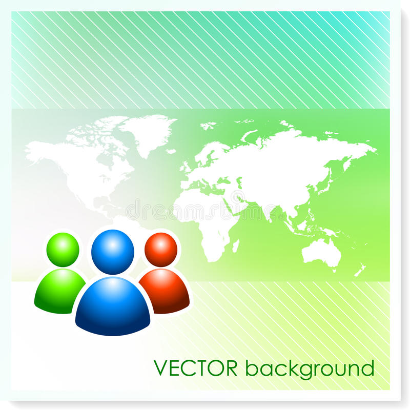 User Group on Vector Background royalty free illustration