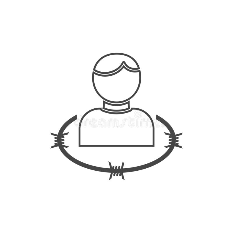User icon with barbwire - Illustration. Vector icon vector illustration