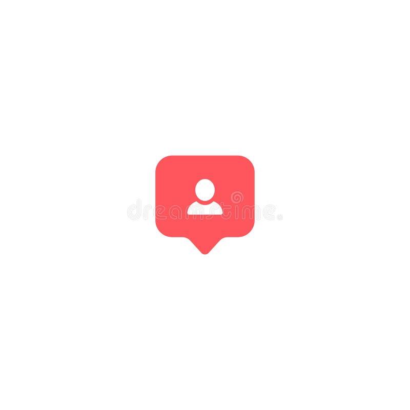 User icon instagram symbol comment avatar. vector illustration on white background EPS10 royalty free illustration