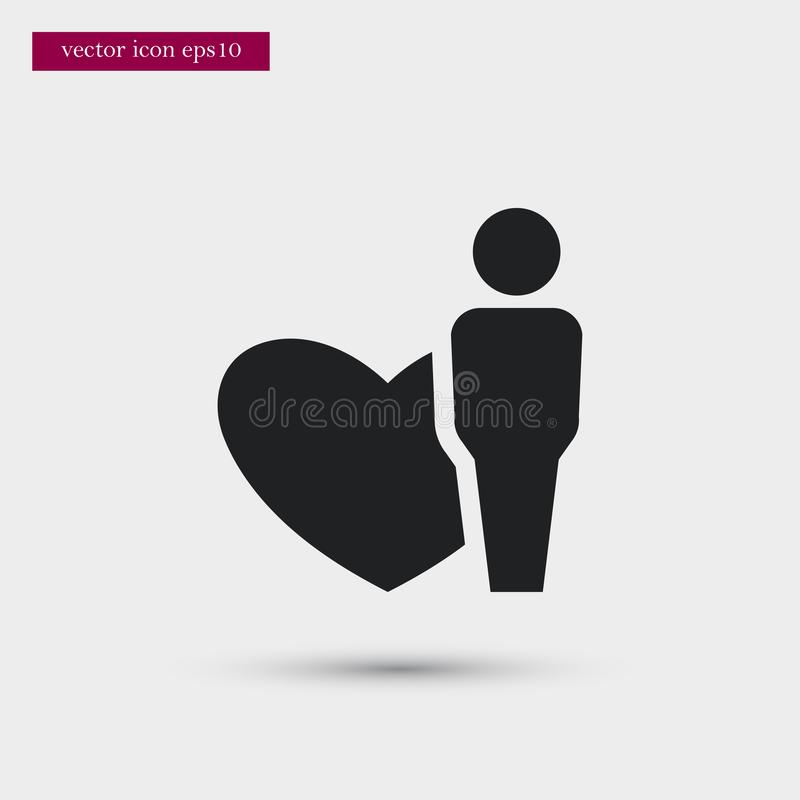 User icon. Simple romance element illustration. Valentine symbol design from love collection. Can be used in web and mobile vector illustration