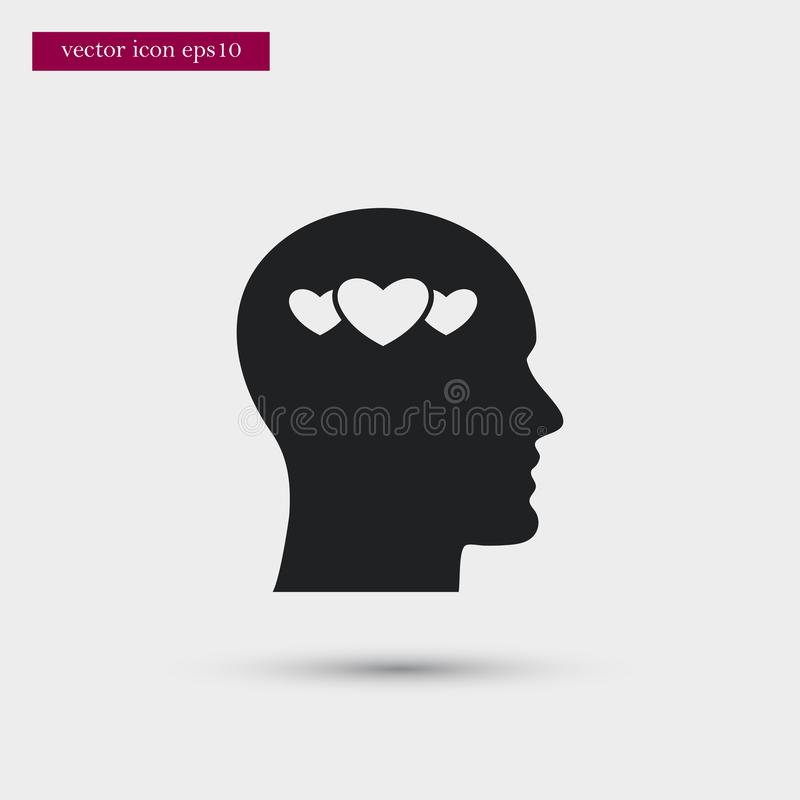 User icon. Simple romance element illustration. Valentine symbol design from love collection. Can be used in web and mobile royalty free illustration