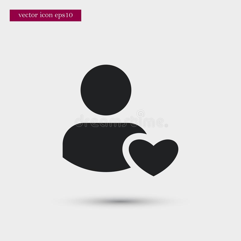 User icon. Simple romance element illustration. Valentine symbol design from love collection. Can be used in web and mobile stock illustration