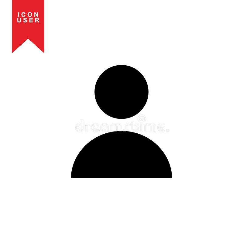 User Icon. In trendy flat style isolated on white background. User silhouette symbol for your web site design, logo, app. Vector illustration. - Vector royalty free illustration