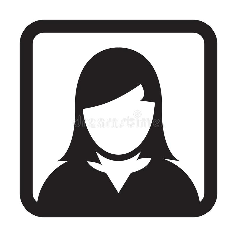 User Icon Vector Female Person Symbol Profile Avatar Sign. In Flat Color Glyph Pictogram illustration vector illustration