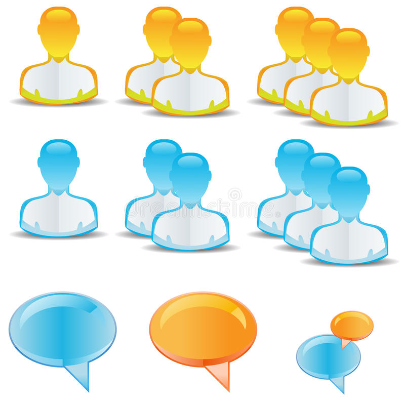 Download User icons stock illustration. Image of consultant, face - 12355444