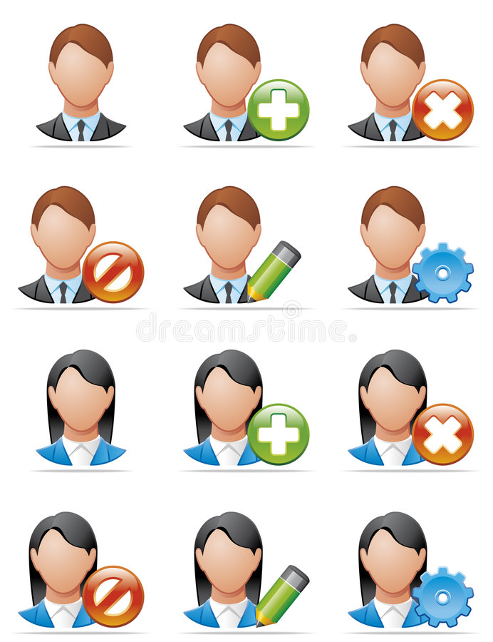 Download User icons stock vector. Illustration of delete, gear - 8933879