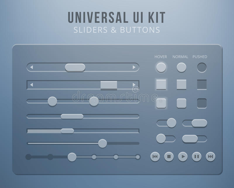 User interface elements with transparency stock illustration