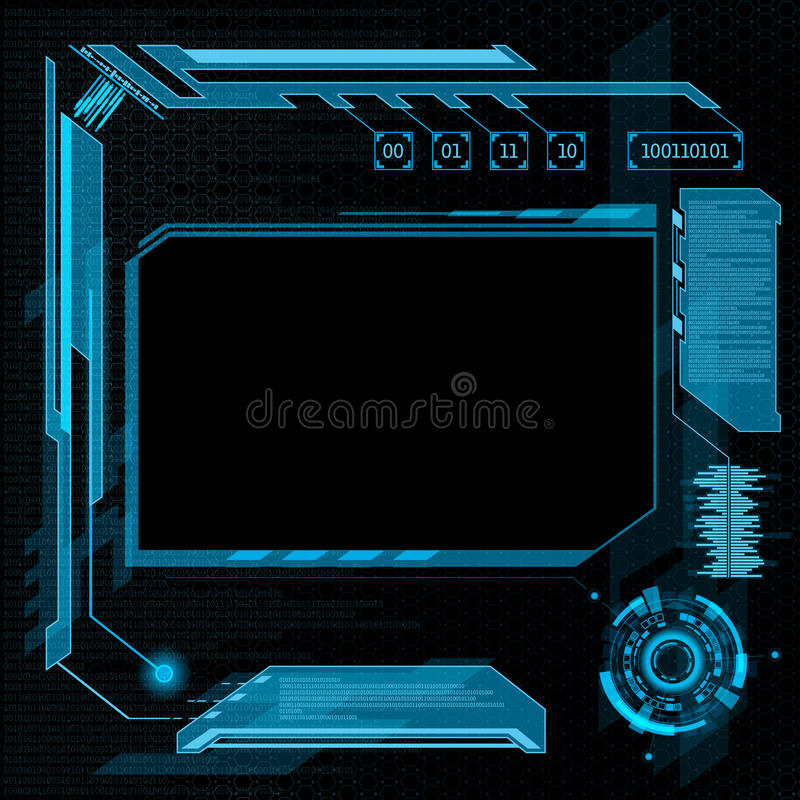User interface HUD. Futuristic user interface HUD. Abstract background. Stock illustration royalty free illustration