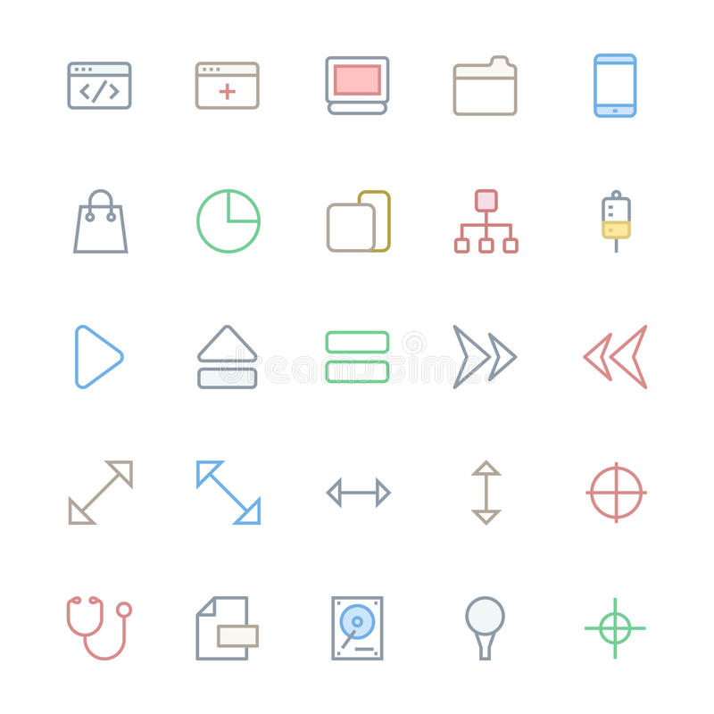 User Interface Line Vector Icons 19. A collection of User Interface Vector Icons that you can easily integrate in your design and the cool thing is, that there royalty free illustration