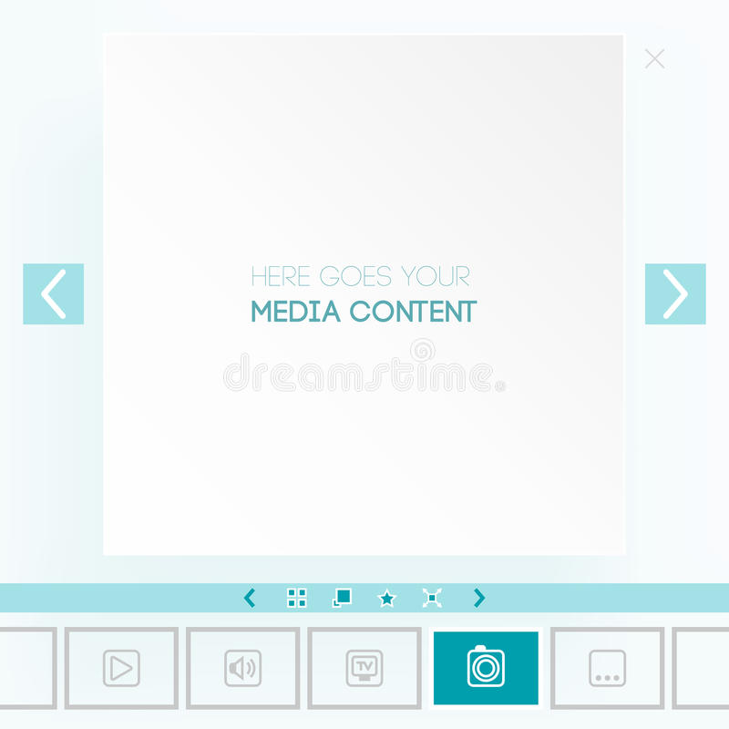Download Template For Placement Of Media Content Stock Image - Image: 29977131