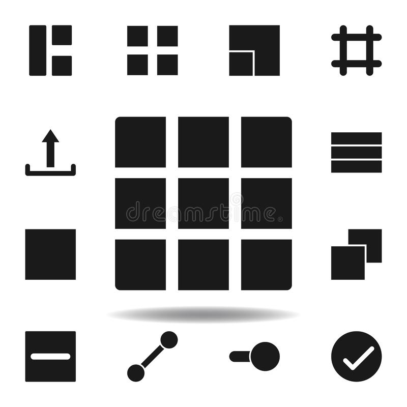 User layout grid icon. set of web illustration icons. signs, symbols can be used for web, logo, mobile app, UI, UX. On white background vector illustration