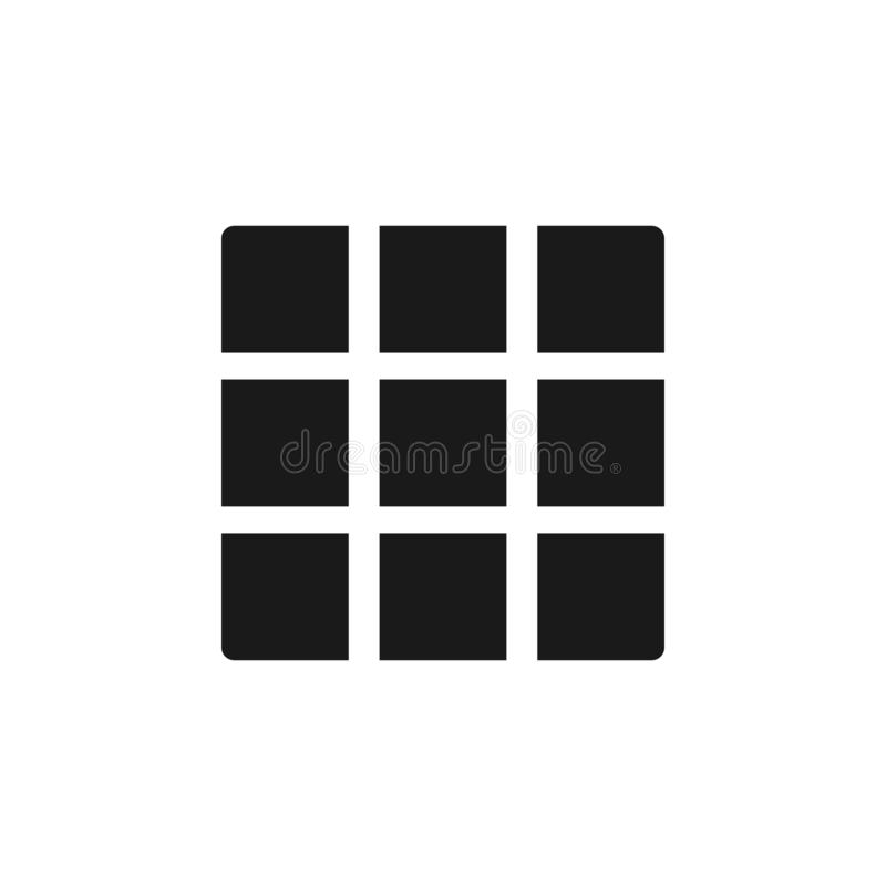 User layout grid icon. Signs and symbols can be used for web, logo, mobile app, UI, UX. On white background royalty free illustration