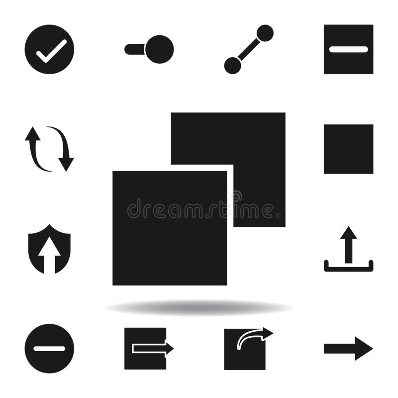 User layout layer icon. set of web illustration icons. signs, symbols can be used for web, logo, mobile app, UI, UX. On white background royalty free illustration