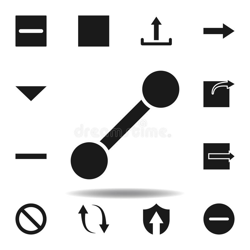 User line path icon. set of web illustration icons. signs, symbols can be used for web, logo, mobile app, UI, UX. On white background vector illustration