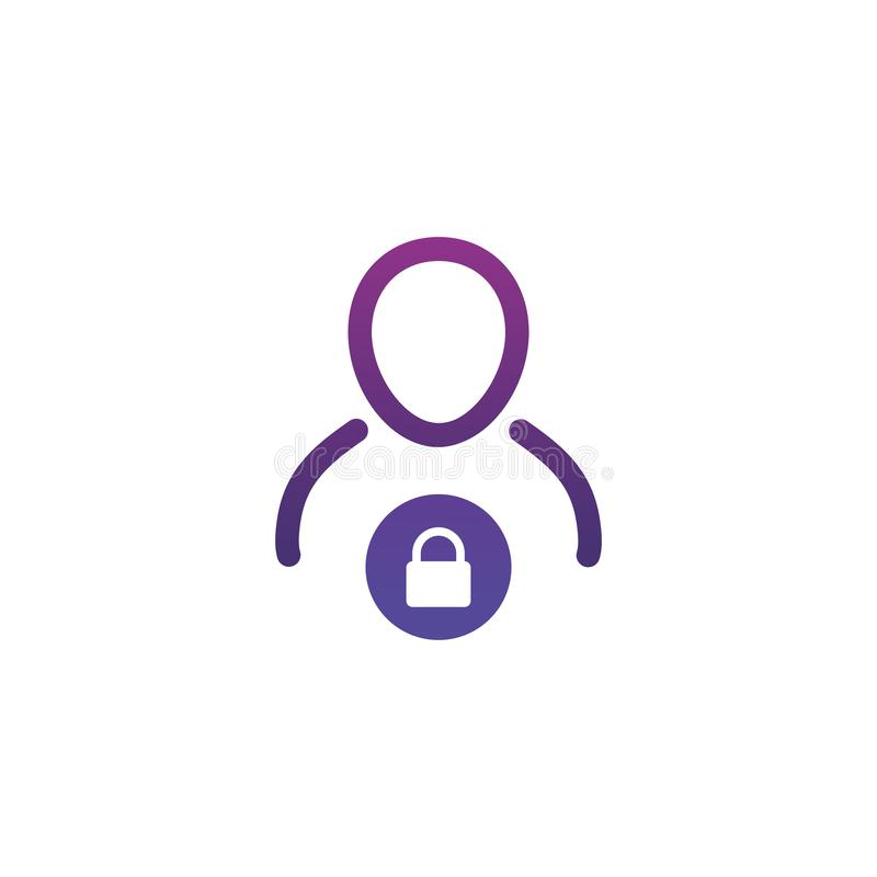 Free User Login Or Authenticate Icon, Vector. Personal Protection Icon. Internet Privacy Protection Icon. Password Protected. Security Stock Images - 161621864