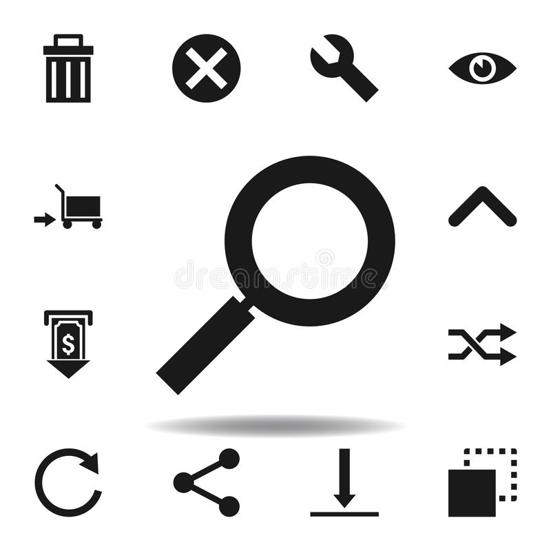 User magnifier search icon. set of web illustration icons. signs, symbols can be used for web, logo, mobile app, UI, UX. On white background stock illustration