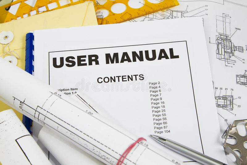 User manual stock image. Image of template, guidance - 24109863