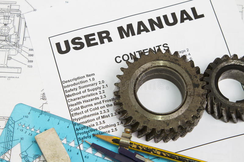 User manual royalty free stock image