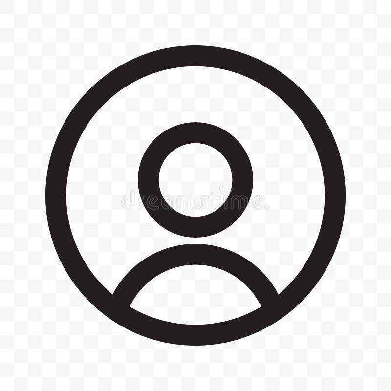 User member social net avatar profile vector icon stock illustration