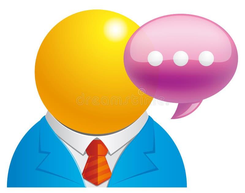 User message stock illustration