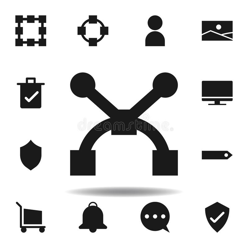 user path anchor icon. set of web illustration icons. signs, symbols can be used for web, logo, mobile app, UI, UX royalty free illustration
