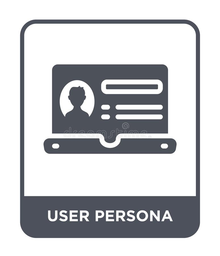 user persona icon in trendy design style. user persona icon isolated on white background. user persona vector icon simple and vector illustration