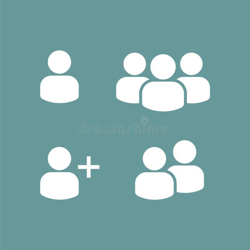 User Profile Group Set Icon Symbol. Vector, eps 10 vector illustration