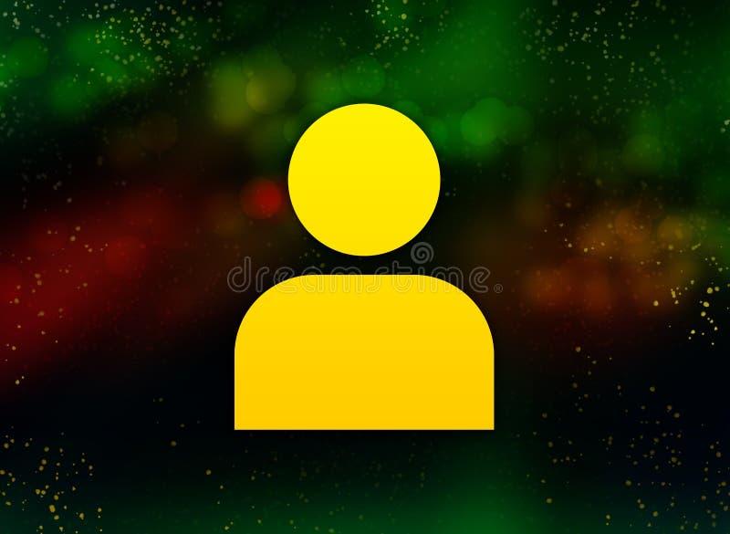 User profile icon abstract bokeh dark background. User profile icon isolated on abstract bokeh dark background vector illustration
