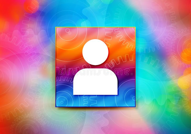 User profile icon abstract colorful background bokeh design illustration. User profile icon isolated on colorful banner abstract colorful background bokeh design vector illustration