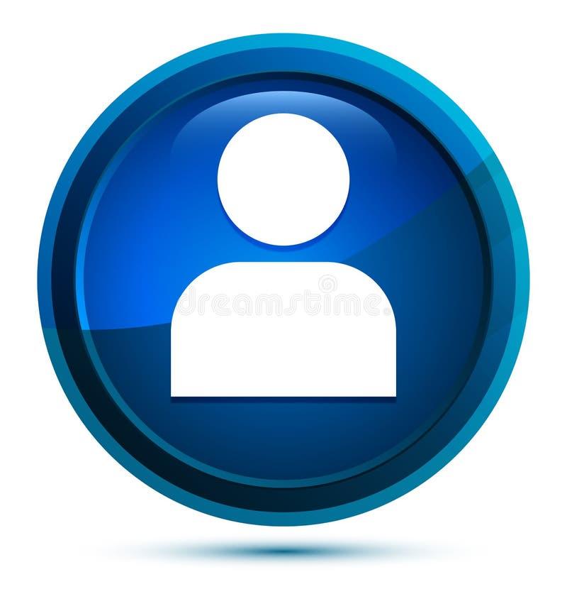 User profile icon elegant blue round button illustration. User profile icon isolated on elegant blue round button illustration stock illustration