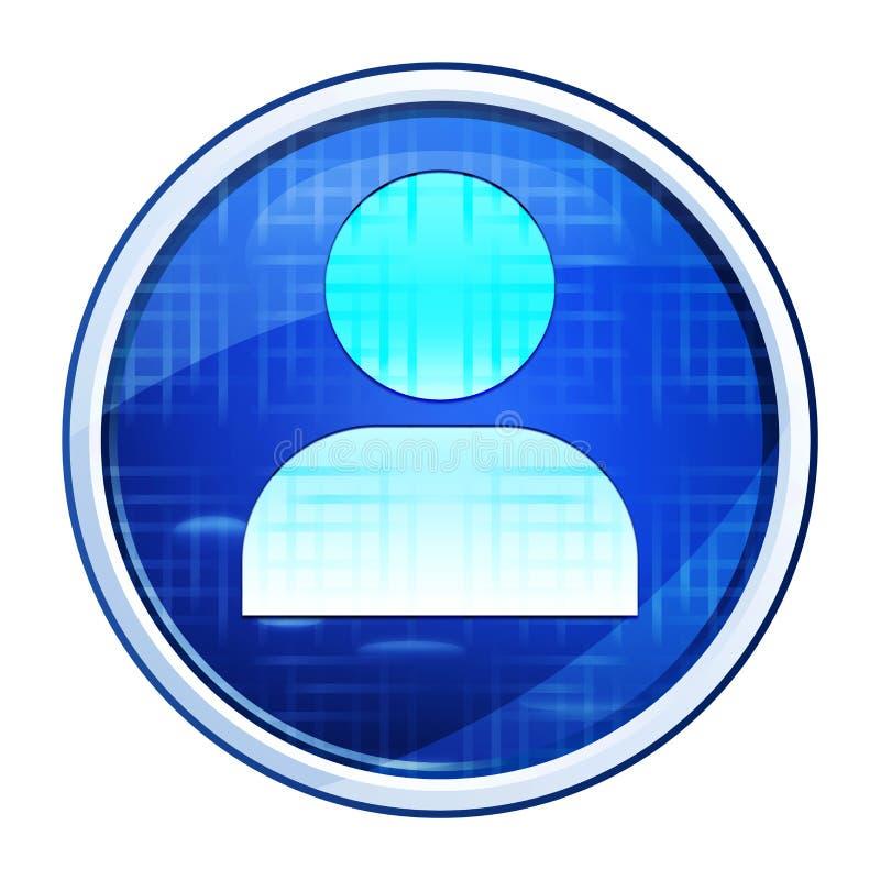 User profile icon futuristic blue round button vector illustration. User profile icon isolated on futuristic blue round button vector illustration vector illustration