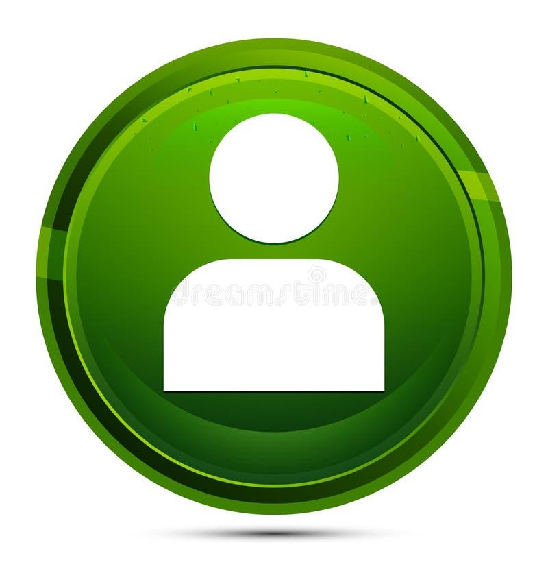 User profile icon glassy green round button illustration. User profile icon isolated on glassy green round button illustration vector illustration