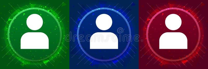 User profile icon elegant modern design abstract buttons set illustration. User profile icon isolated on elegant modern design abstract buttons set illustration royalty free illustration