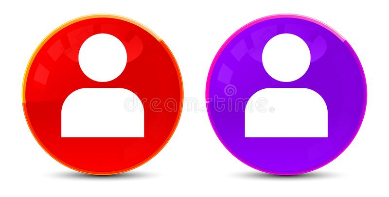 User profile icon glossy round buttons illustration. User profile icon isolated on glossy round buttons illustration royalty free illustration