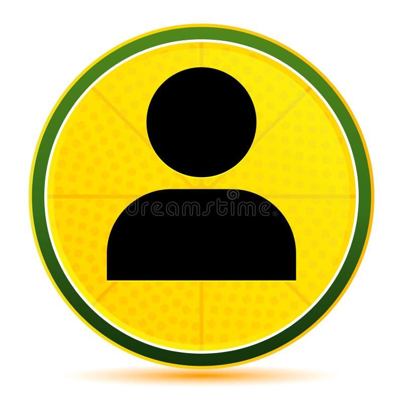 User profile icon lemon lime yellow round button illustration. User profile icon isolated on lemon lime yellow round button illustration vector illustration
