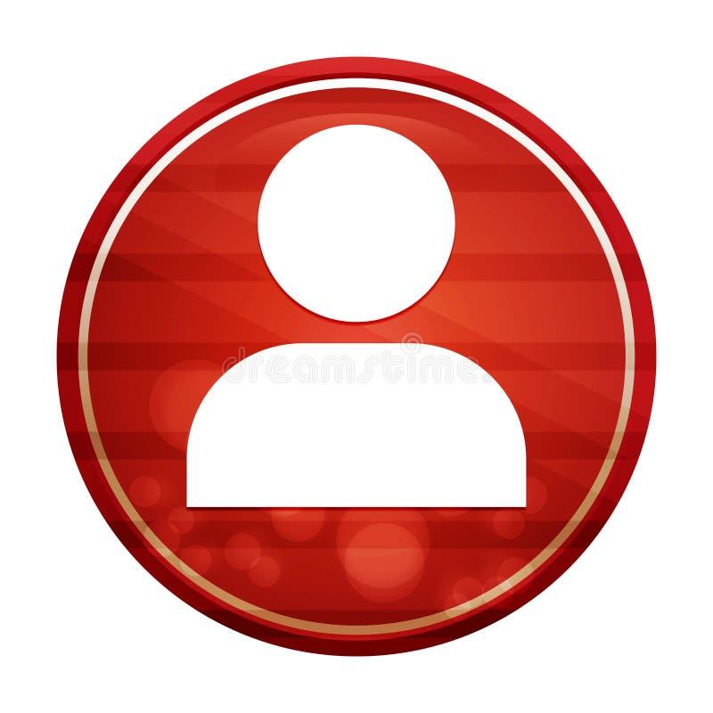 User profile icon realistic diagonal motion red round button illustration. User profile icon isolated on realistic diagonal motion red round button illustration vector illustration