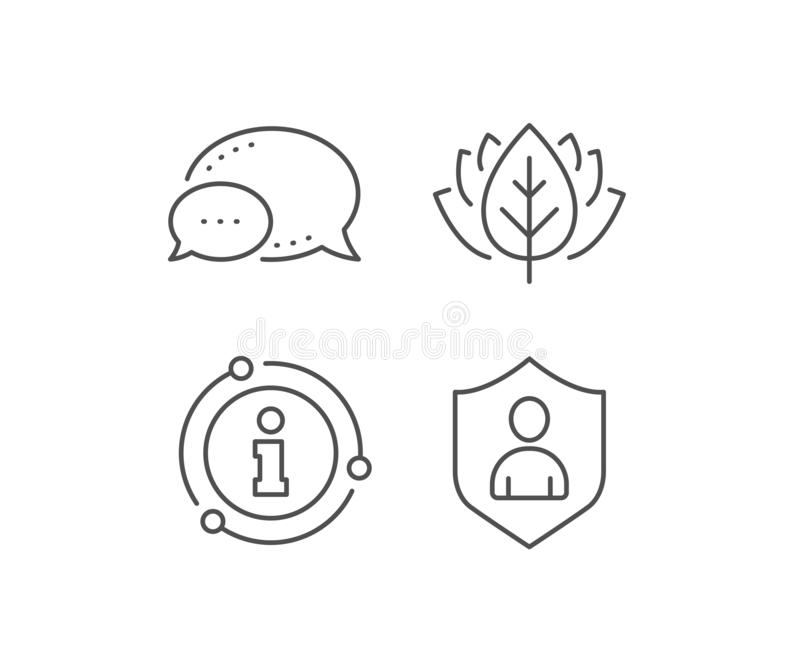 User Protection line icon. Profile Avatar sign. Vector royalty free illustration