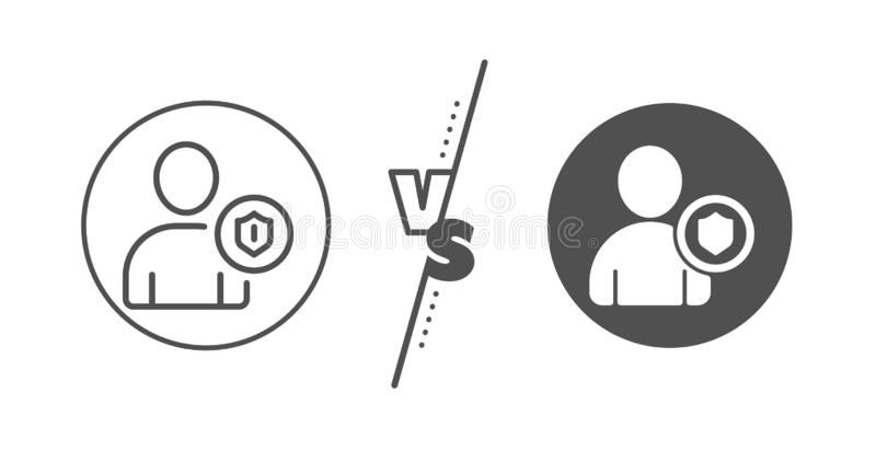User Protection line icon. Profile Avatar sign. Vector vector illustration