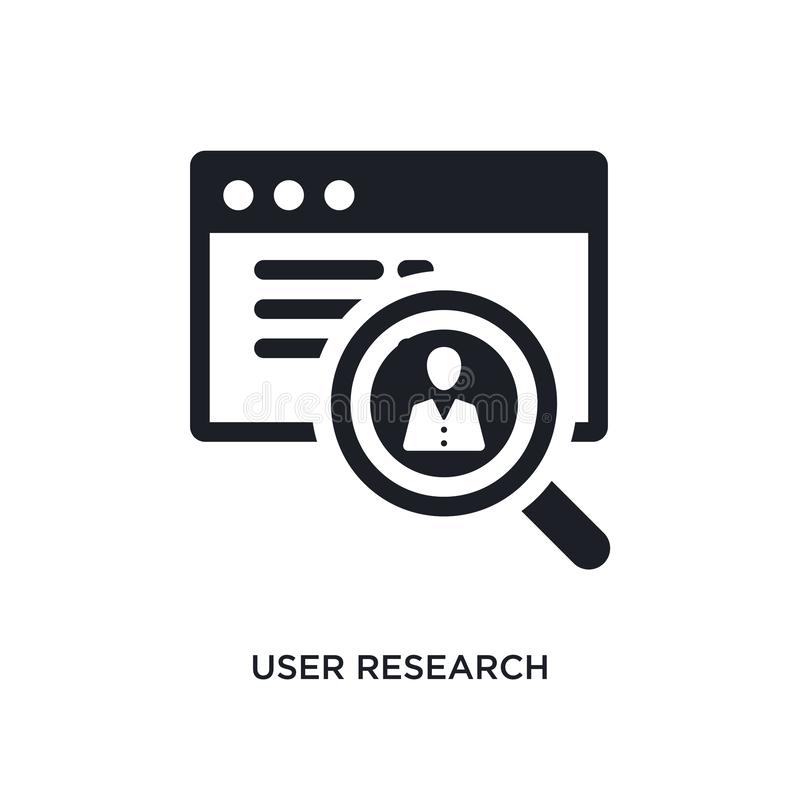 user research isolated icon. simple element illustration from technology concept icons. user research editable logo sign symbol royalty free illustration