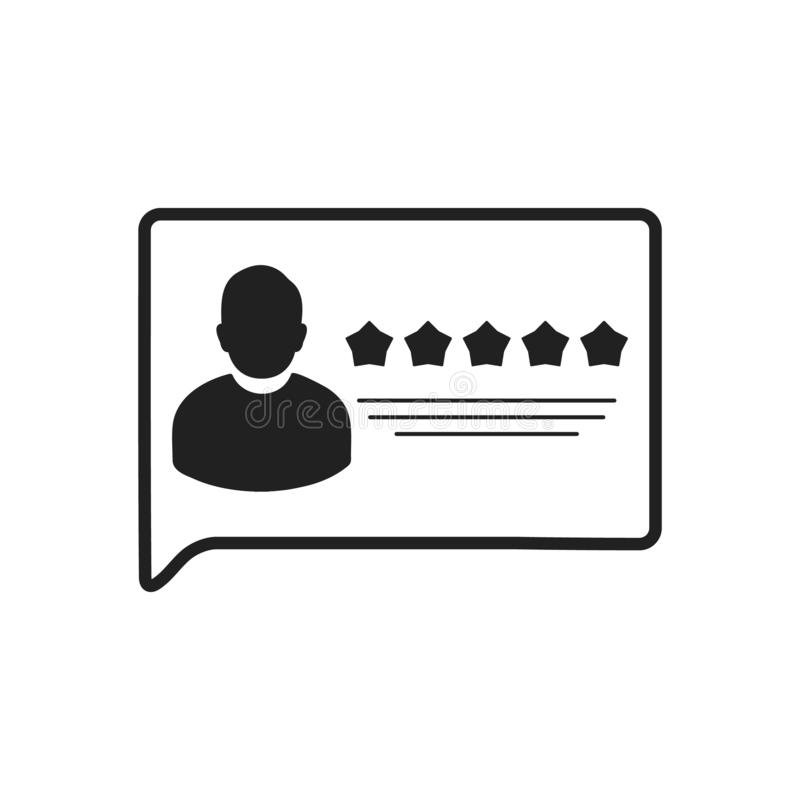 User review or Feedback Icon. Flat style vector EPS vector illustration