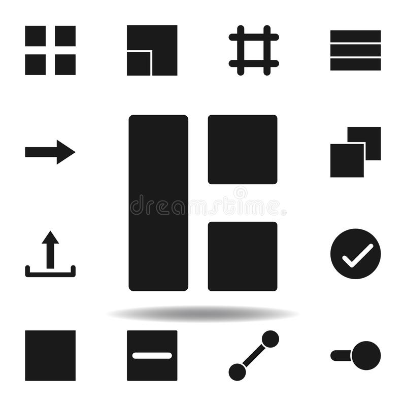 User split grid icon. set of web illustration icons. signs, symbols can be used for web, logo, mobile app, UI, UX. On white background vector illustration