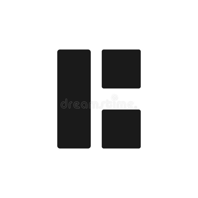 User split grid icon. Signs and symbols can be used for web, logo, mobile app, UI, UX. On white background vector illustration