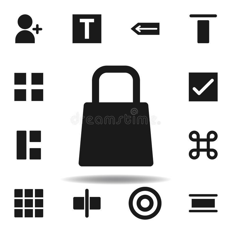 User website bag shopping icon. set of web illustration icons. signs, symbols can be used for web, logo, mobile app, UI, UX. On white background royalty free illustration